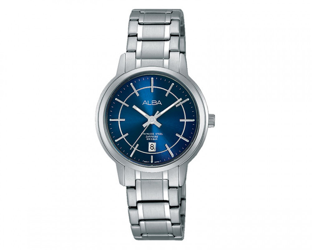 ALBA Ladies' hand watch Prestige Blue dial and Stainless steel bracelet AH7G89X1