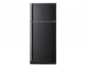 Sharp refrigerator 599 litre 2 door black color inverter technology with plasma cluster SJ-SE70D-BK