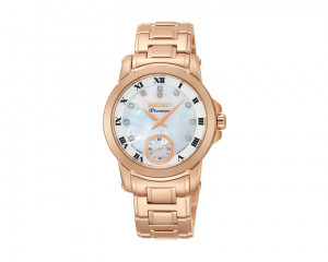 SEIKO Ladies' Premier hand watch with 1 year international warranty SRKZ58P1