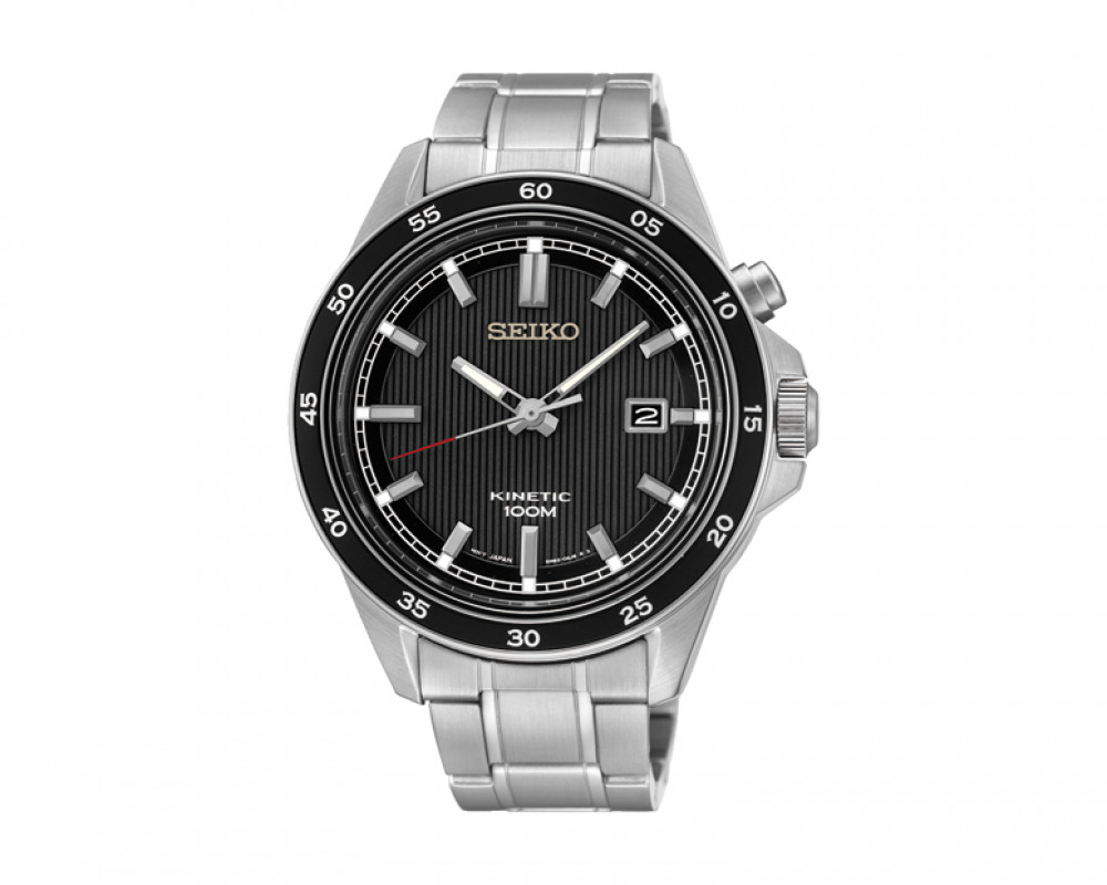 SEIKO Men's Hand Watch Kinetic Stainless Steel Band & 1 Year Warranty SKA641P1