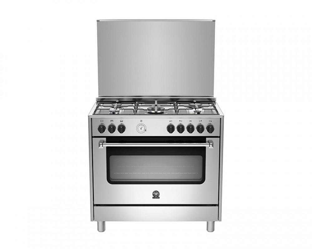 La Germania Cooker 5 Gas Burners 90X60 Stainless with Oven & Grill AMS95C31CX