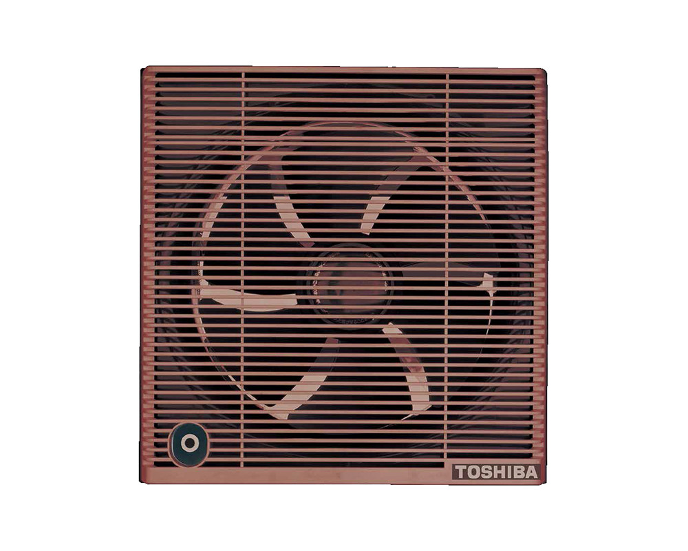 Toshiba Bathroom Ventilating Fan Size 25cm with Brown & Off White Colors VRH25S1