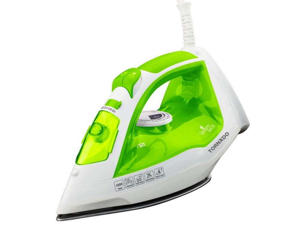 Tornado Steam Iron 1800 Watt with Water Spray & Teflon Soleplate TST-1800