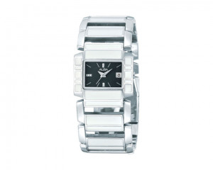 ALBA LADIES' hand Watch Fashion Stainless steel band & Black dial AXT951X