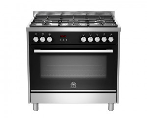 La Germania Cooker 5 Gas Burners 90X60 Stainless with Fan TUS95C81BX