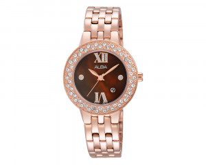 ALBA Ladies' Hand Watch Fashion Stainless Steel Band & Water Resistant AH7H34X1