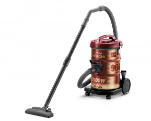 Hitachi Pail Can Vacuum Cleaner 2100 Watt with Telescopic pipe & Dusting brush CV-960Y