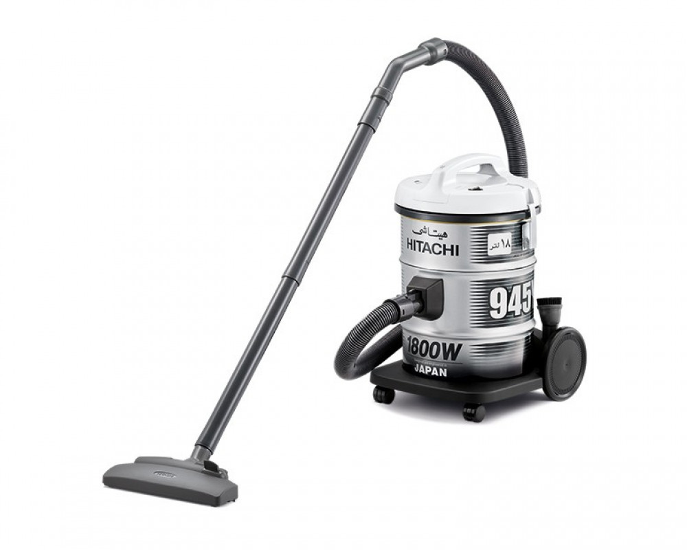 Hitachi Pail Can Vacuum Cleaner 1800 Watt with Red Color & Gray and Blower Function CV-945Y