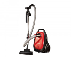Toshiba Vacuum Cleaner 1600 Watt with Anti-Bacteria Filter & Black X Red Color VC-EA100CV
