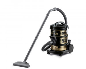 Hitachi Pail Can Vacuum Cleaner 2000 Watt Black color with Dusting Brush CV-950Y