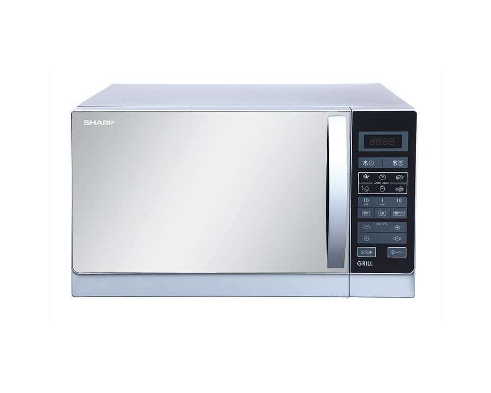 Sharp Microwave 25 Litre with Grill & Silver Color R-75MR(S)