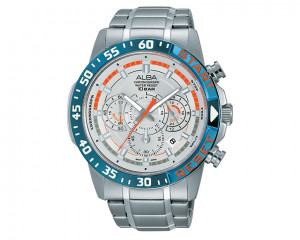 ALBA Men's hand watch Active Silver white dial and water resistant AT3893X1