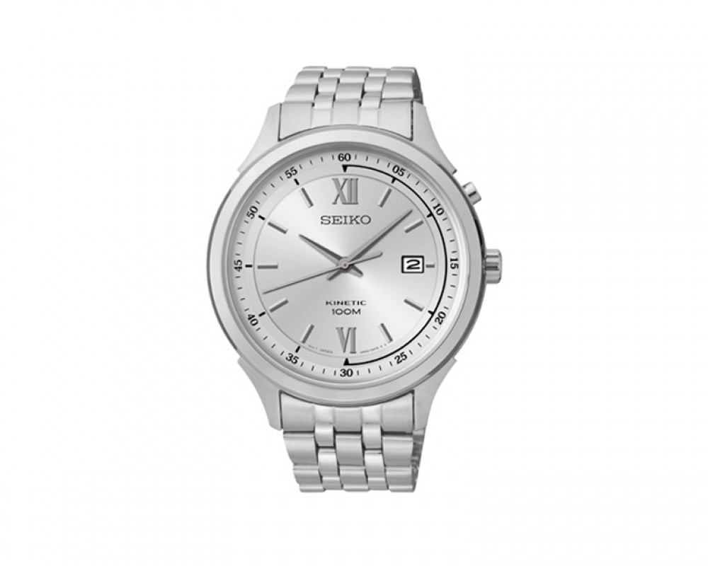 SEIKO Men's Hand Watch Kinetic Stainless Steel Band & 1 Year Warranty SKA653P1