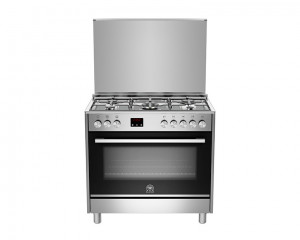 La Germania Cooker 5 Gas Burners 90X60 Stainless with Oven & Grill TUS95C81CX