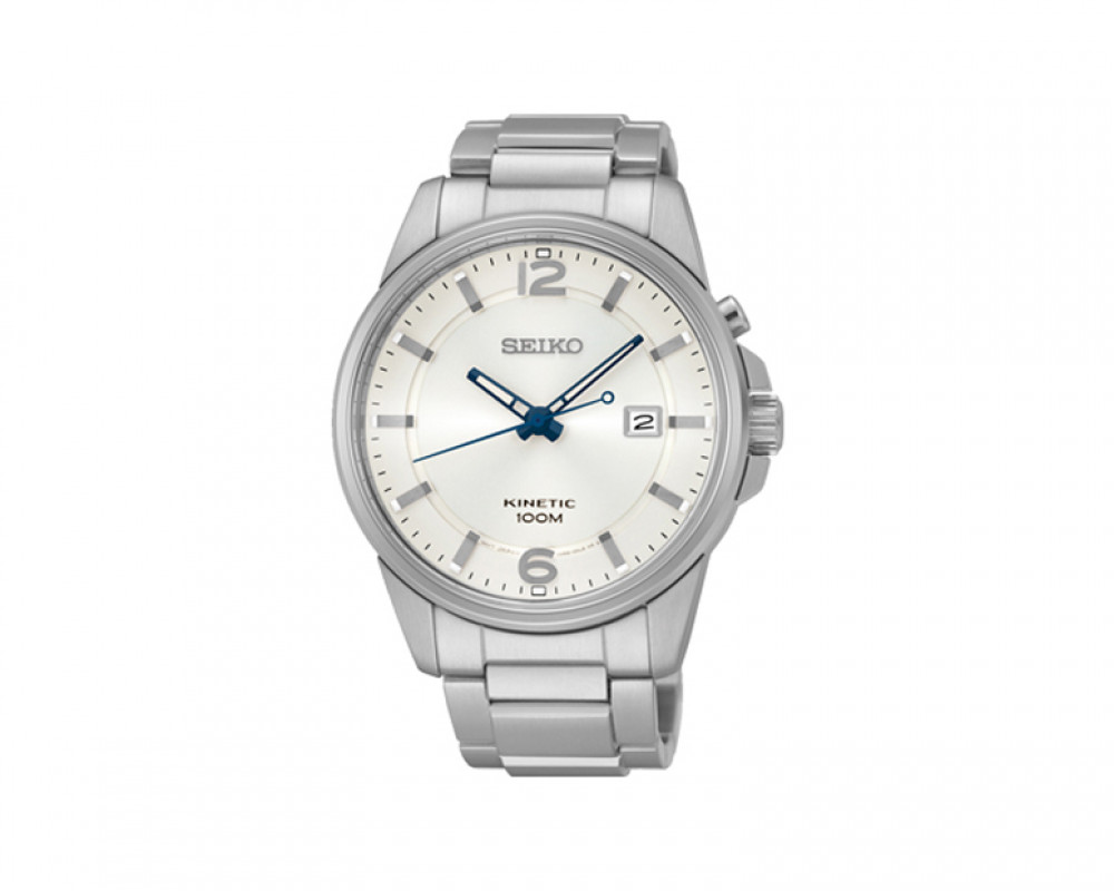 SEIKO Men's Hand Watch Kinetic Stainless Steel Band & 1 Year Warranty SKA663P1