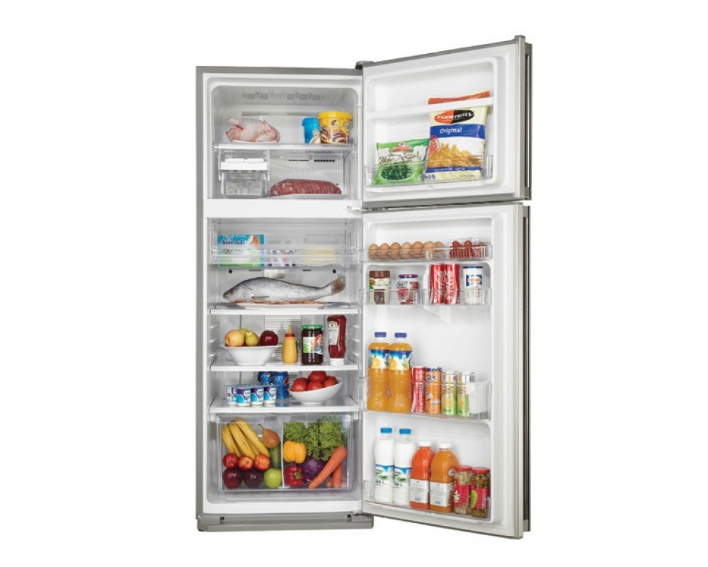 Sharp Refrigerator 2 Door 340 Litre Stainless Color with Nano Deodorizer Filter & No Frost SJ-48C(ST)