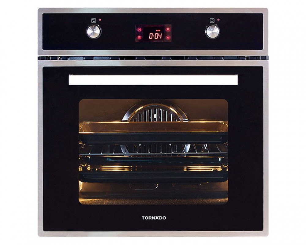 Tornado Gas Oven Stainless Steel With Convection Fan And Grill 64 Liters OV60GDFFS-1