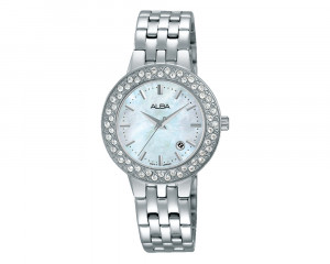 ALBA Ladies' Hand Watch Fashion Stainless Steel Band & Water Resistant AH7H41X1