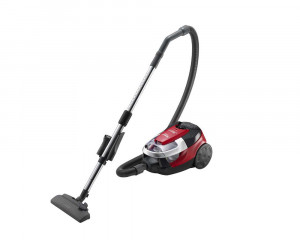 HITACHI Vacuum Cleaner 2200 Watt with Nano Titanium Hepa Filter and Dusting Brush In Red × Black Color CV-SE22V