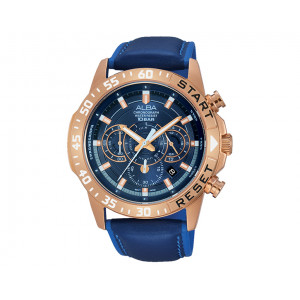ALBA Men's hand watch Active Blue Patterned dial and water resistant AT3900X1