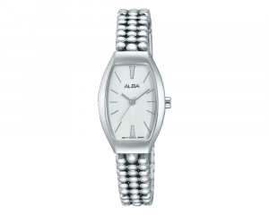 ALBA Ladies' Hand Watch FASHION Stainless Steel Bracelet & Silver White Dial AH8253X1