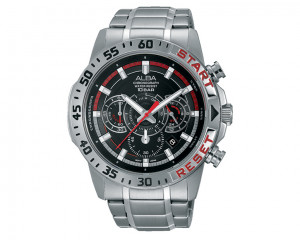 ALBA Men's hand watch Active Black Patterned dial and water resistant AT3897X1
