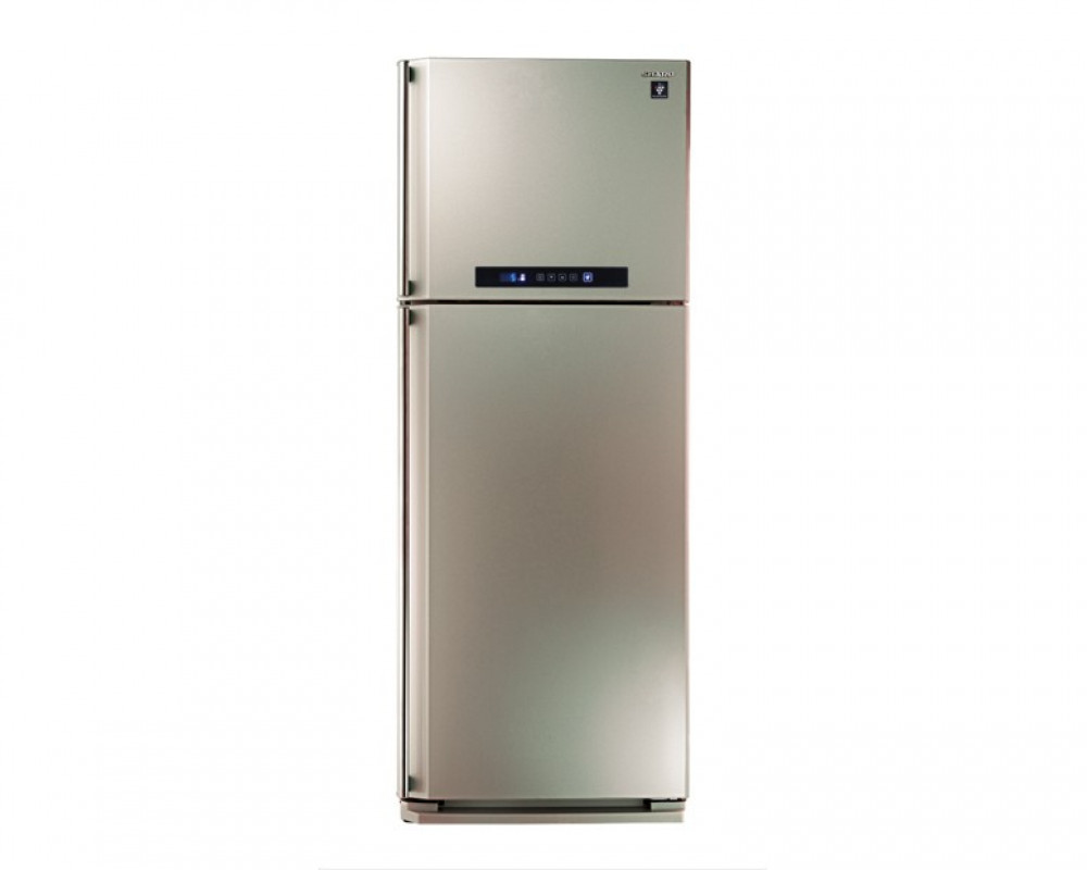 Sharp Refrigerator 384 Litre 2 Door Champaign Digital with Plasma Cluster SJ-PC48A(CH)