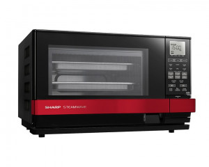 Sharp Microwave 27 Litre 1530 Watt with Grill 1150 Watt & Red x Black Color AX-1100(R)M