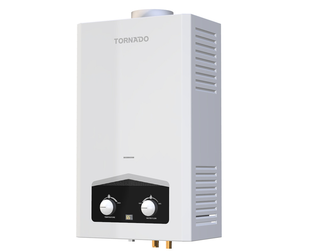 Tornado digital Gas water heater 10 Litre White Color for liquefied petroleum gas GHM-C10ATE-W