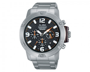 ALBA Men's hand watch Active Black dial with Stainless steel band AT3807X1