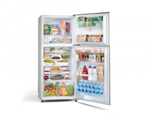 Toshiba Refrigerator 335 Litre with 2 Door Long Handle & Silver color GR-EF40P-H-S