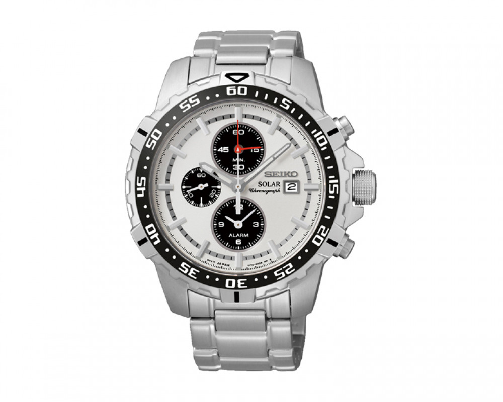 SEIKO Men's Chronograph Hand Watch Stainless Steel Band & 1Year Warranty SSC297P1