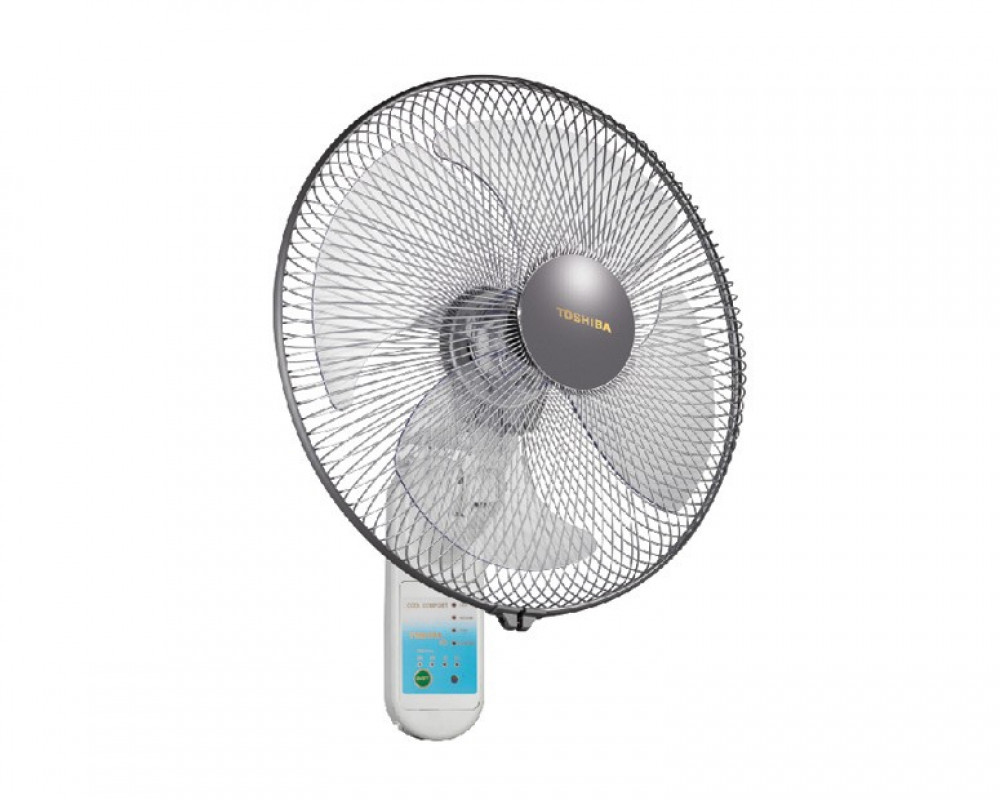 Toshiba Wall Fan 16 inch with Remote Control & 4 Plastic Blades EPS30(PS)