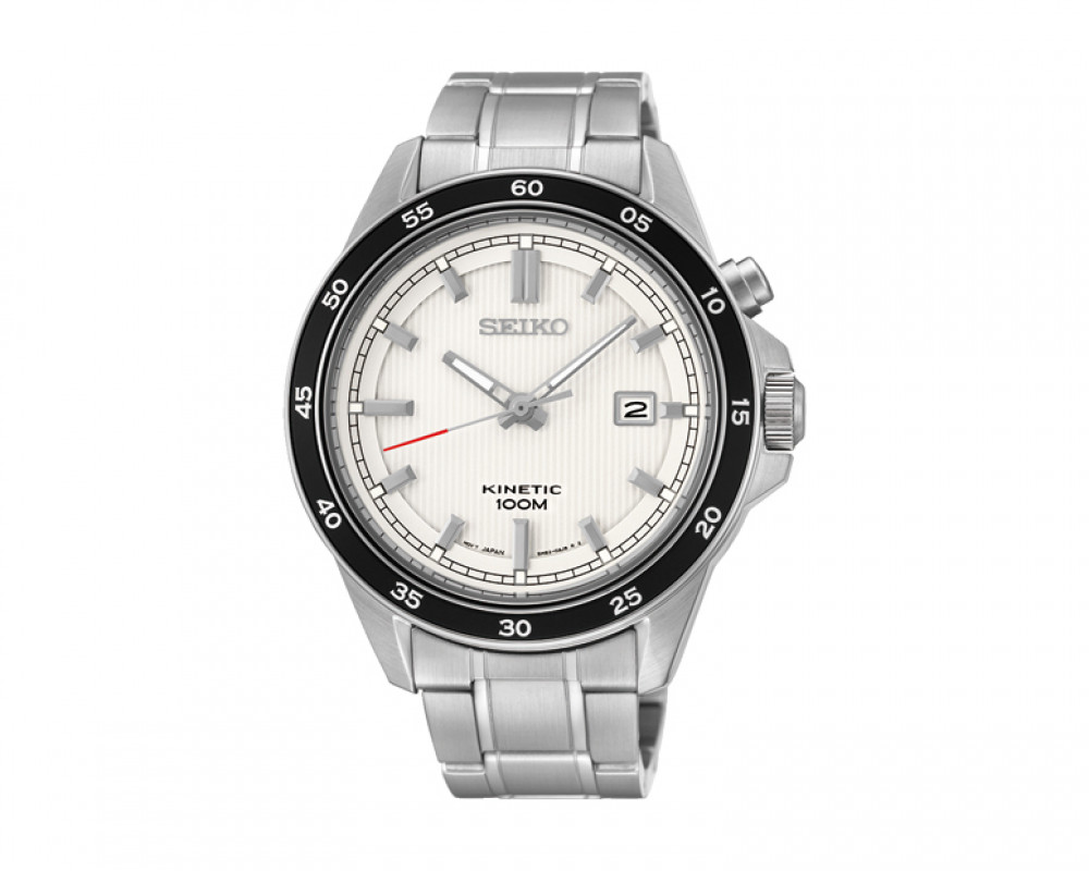 SEIKO Men's Hand Watch Kinetic Stainless Steel Band & 1 Year Warranty SKA639P1