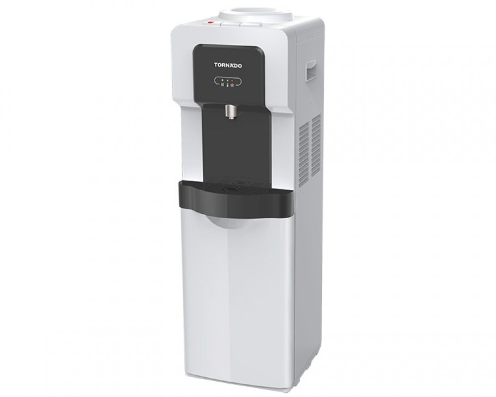 Tornado Water Dispenser Black x White With Faucet and Fridge WD-R35-WB