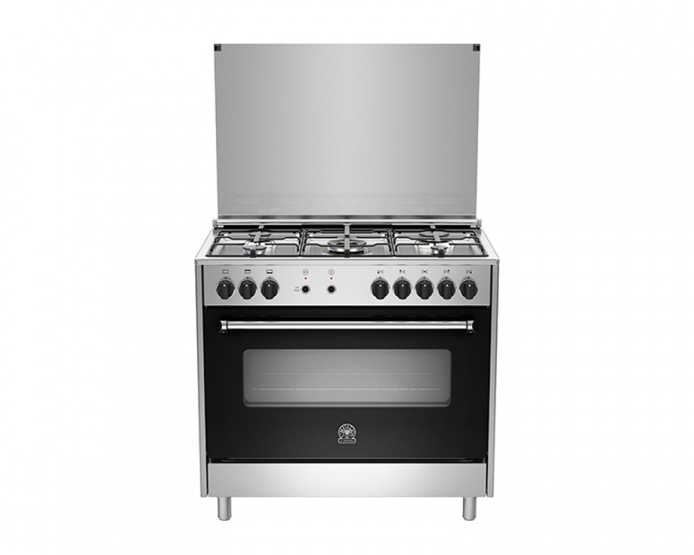 La Germania Cooker 5 Gas Burners 90X60 Stainless with Oven & Grill AMS95C31DX