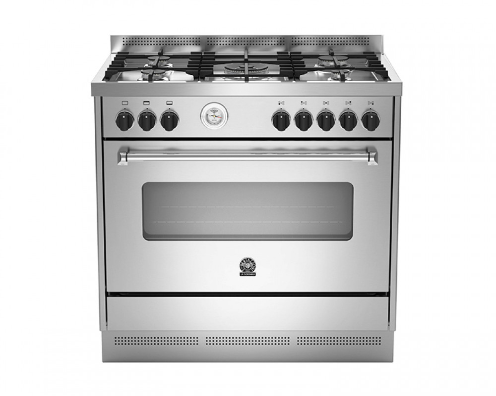 La Germania Cooker 5 Gas Burners 90X60 Stainless with 2 Fans AMS95C81AX