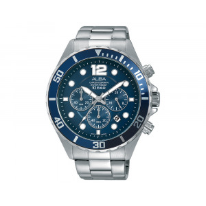 ALBA Men's Hand Watch ACTIVE Stainless Steel Bracelet & Blue Dial AT3911X1
