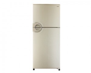 Toshiba Refrigerator 2 Door 328Litre Gold No Frost with Circular handle GR-EF37-J-G