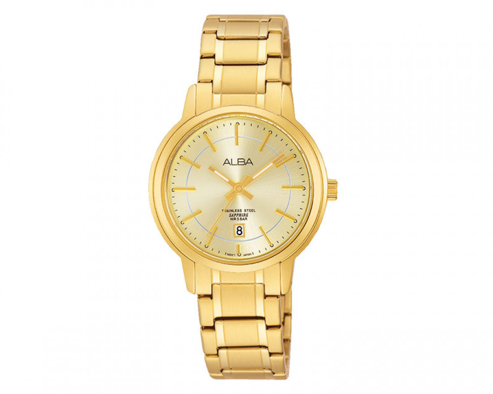 ALBA Ladies' Prestige Hand Watch champagne dial and Stainless steel case AH7G74X1