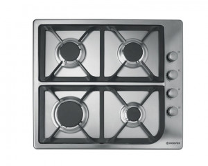 Hoover built-in Hob Gas 60cm 4 Burners Stainless Steel HGL64SCX