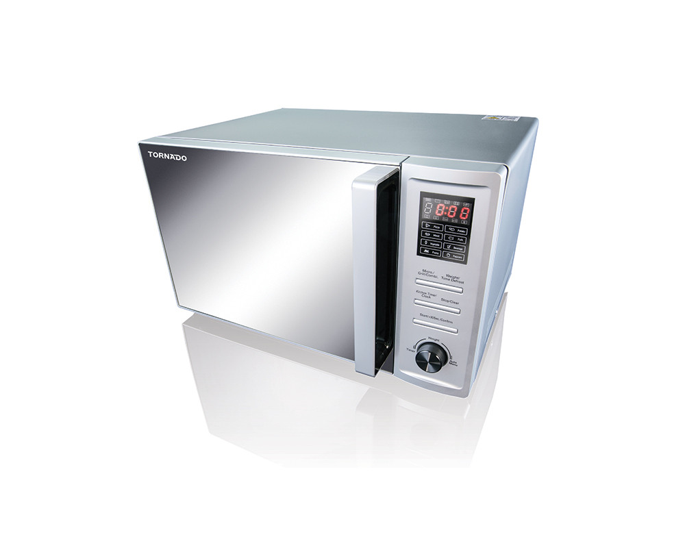 Tornado Microwave 36 Liters with Grill & Automatic Cooking Menus Silver color TM-36S