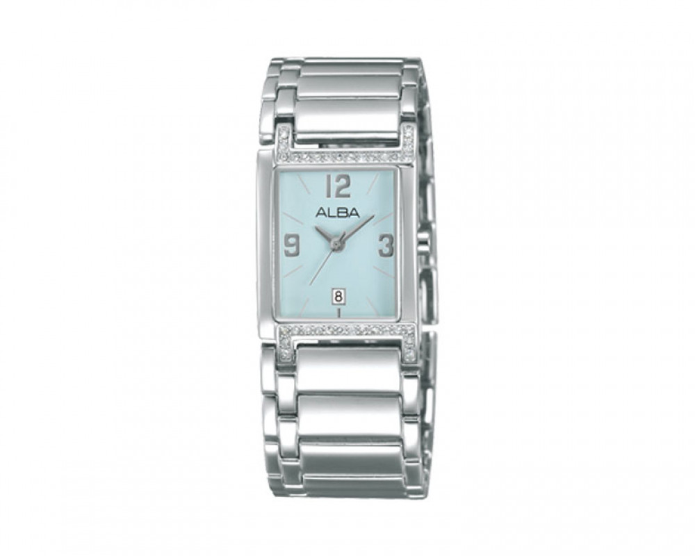 ALBA LADIES' hand watch Fashion Light Blue dial and Stainless steel bracelet AXT987X