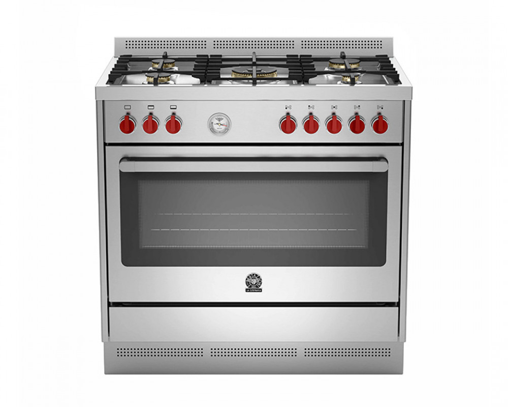 La Germania Cooker Prima 5 Gas Burners size 90x60 with 2 Fans RIS95C81AX
