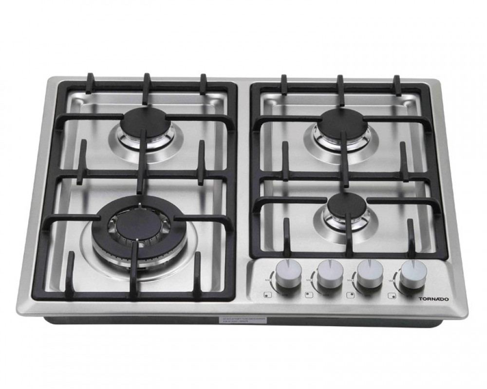 Tornado built-in Hob Gas 60cm 4 Burners Stainless steel PI604GAFS-1