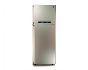 Sharp Refrigerator 384 Litre No frost Digital with Plasma Cluster Champagne Color SJ-PC48A(CH)
