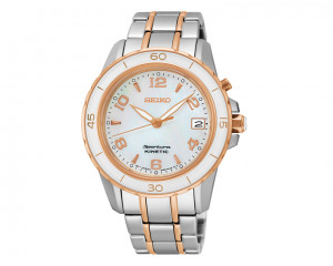 SEIKO Ladies' Sportura Hand Watch with stainless steel band & water resistant SKA878J1