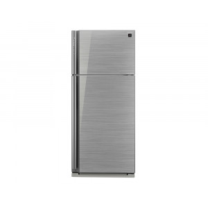 Sharp Refrigerator 599 Liters Inverter 2 Glass Silver Door with Plasma Cluster SJ-GP70D-SL