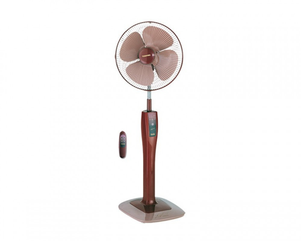 Toshiba Stand Fan 16 inch with Remote Control & 4 Plastic Blades EFS-75(PS)