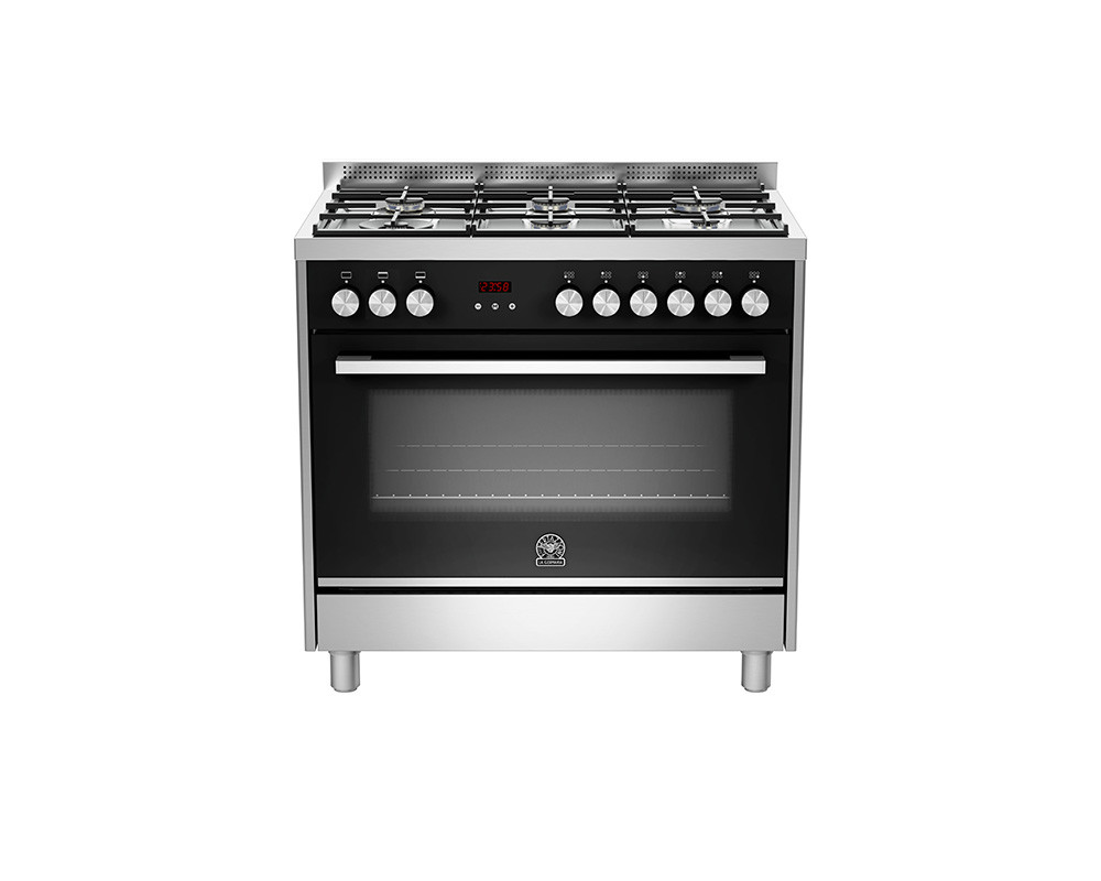 La Germania Cooker 6 Gas Burners 90x60 Stainless with Fan TUS96C81BX